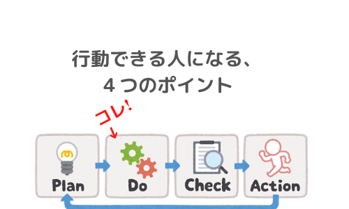 【行動できない人】行動に移せない人が行動できるようになる4つのポイント