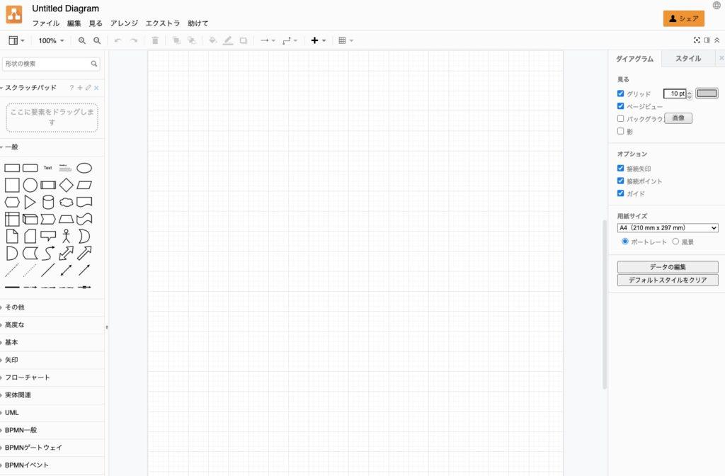 draw.io 画面