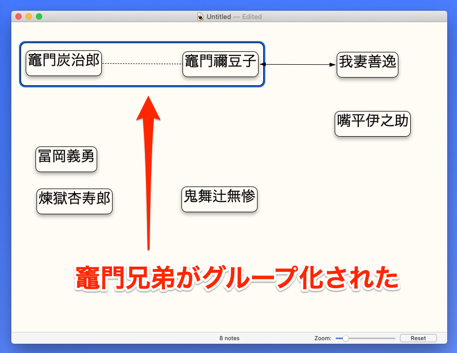 Scapple Note グループ