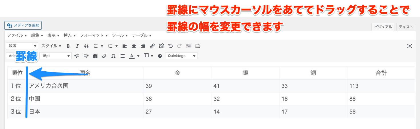 Advanced Editor Tools セル 罫線